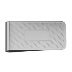 Classic Stainless Steel Money Clip - Engravable Center Section