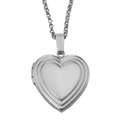 Sterling Heart Shaped Locket - Engravable - 19mm
