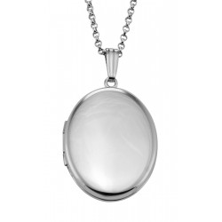 Classic Engravable Sterling Silver Oval Locket - 19mm - Made in USA