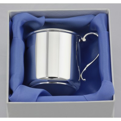 Heirloom Quality Sterling Silver Engravable Baby Cup - Made in the USA