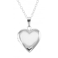 Sterling Silver Heart Shaped Child's Locket with Chain - 13mm