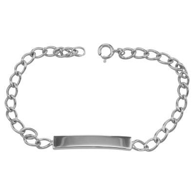 Sterling Silver ID Bracelet - Baby Boy - Childrens Engravable - Made in USA