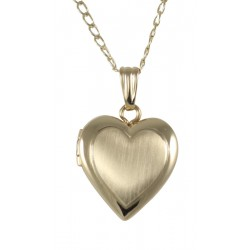14K Gold Filled Heart Shaped Child's Locket - 13mm - Made in USA
