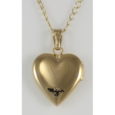 14K Gold Filled Heart Shaped Childs Locket - 13mm - Made in USA
