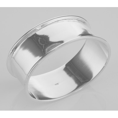 Classic Oval Sterling Silver Napkin Ring