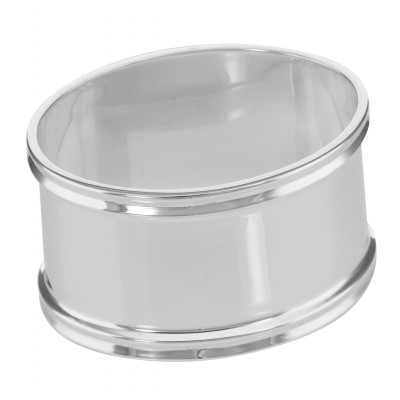 Sterling Silver Napkin Ring - Oval - Made in Italy