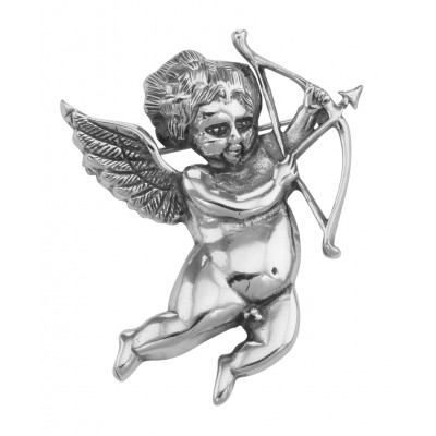 Love Cupid / Cherub Art Nouveau Style Pin or Pendant Sterling Silver