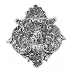 Art Nouveau Style Cherub Pin or Pendant - Sterling Silver