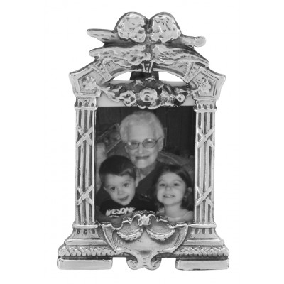 Victorian Style Cherubs Mini Picture Frame in Fine Sterling Silver