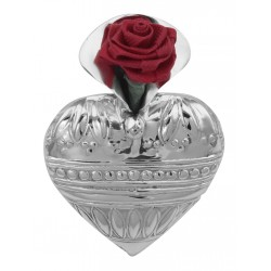 Art Deco Style Heart Vase Pin - Sterling Silver