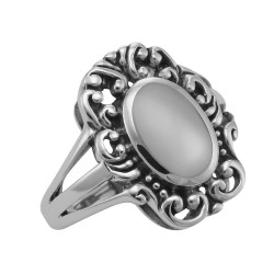 Mother of Pearl Ring - Sterling Silver
