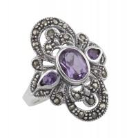 Gemstone / Marcasite Rings