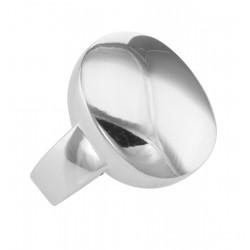 Italian Made Ferroni Oval Signet Ring - Sterling Silver