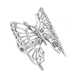 Large Filigree Butterfly Ring - Sterling Silver