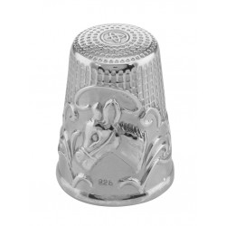 Antique Style Silver Horse / Donkey Head Sewing Thimble Sterling Silver