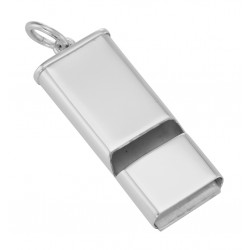 Sterling Silver Whistle Pendant - Made in USA