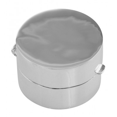 Classic Engravable Round Sterling Silver Pillbox or Memorial Ash Case