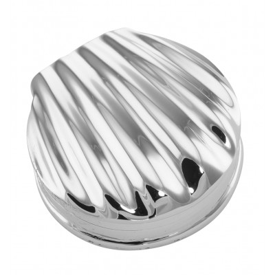 Classic Scallop Shell Sterling Silver Pillbox - Pill Box