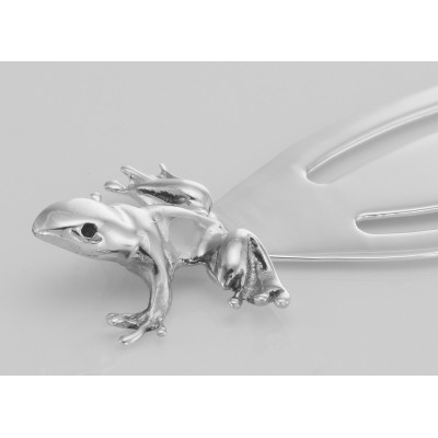 Vintage Style Frog / Toad Sterling Silver Bookmark