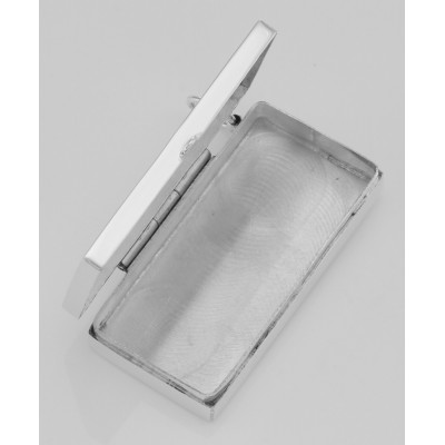 Domino Style Pill Box - Sterling Silver Pillbox / Pendant