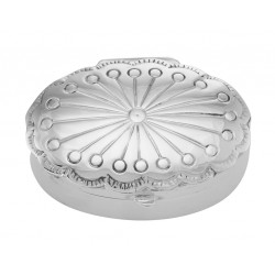 Victorian Style Sterling Silver Small Oval Pill Box