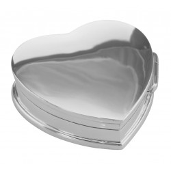 Beautiful Heart Shaped Keepsakes Pillbox in Fine Sterling Silver