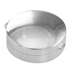 Medium Engravable Round Sterling Silver Pillbox