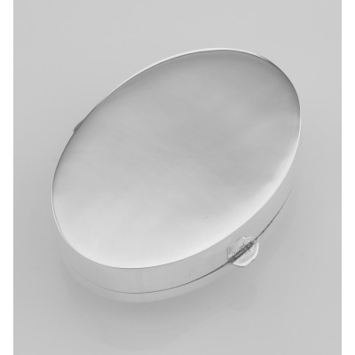 Classic Comedy and Tragedy Pill Box in Fine Sterling Silver