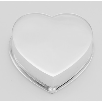 Classic Sterling Silver 2 Compartment Heart Pill Box with Etched Design