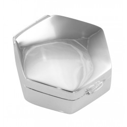 Small High Polish Hexagon Shaped Sterling Silver Engravable Pillbox