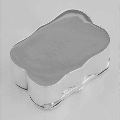 Classic Smooth Shaped - Engravable Sterling Silver Pillbox