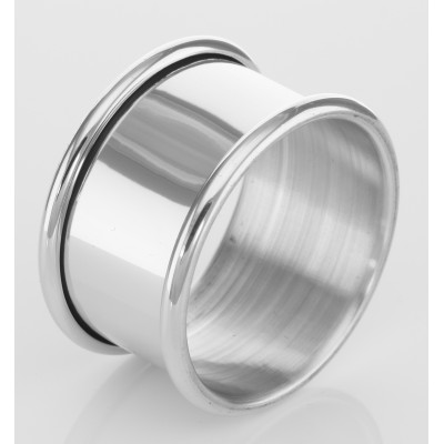 Pewter Napkin Ring w/ Rolled Edge - Made in USA