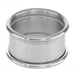 Pewter Napkin Ring w/ Beaded Border - Made in USA