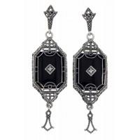 Silver Earrings - Filigree